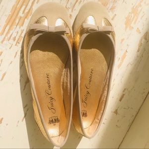 Juicy Couture golden flats size 8